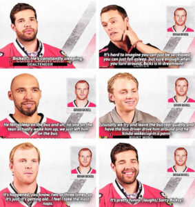 Who naps the most Chicago Blackhawks #bickell #NHL
