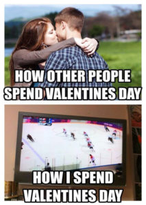 How we spend Valentine's Day, at the rink! Love my hockey players.